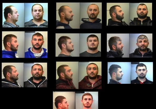 Αυτοί είναι οι 10 άνδρες που λήστευαν οδηγούς φορτηγών στην Αττική (ΦΩΤΟ)