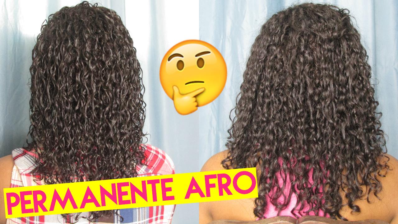 Finalização de cabelo com permanente afro, permanente afro, cabelo com permanente