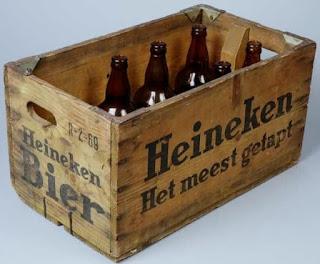 Jaren 60 - Houten Heineken krat