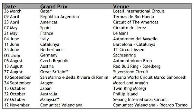 Jadwal Lengkap & Siaran Langsung MotoGP 2017
