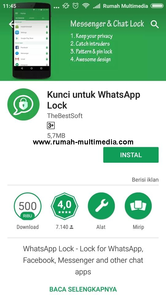 Cara Mudah Mengunci Aplikasi WhatsApp di Android - Rumah Multimedia