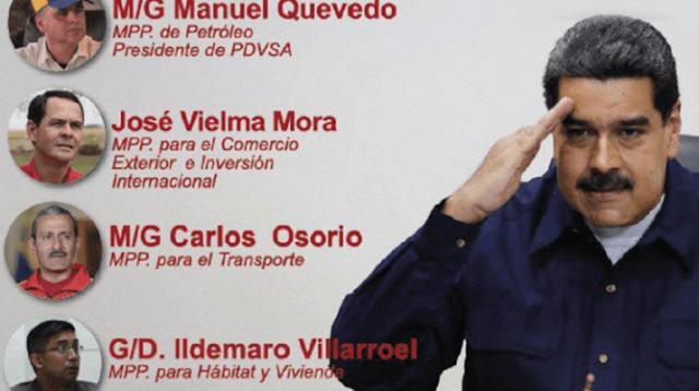"""Venezuela: Militarizan El Gabinete Ejecutivo Para """"Dar La Batalla"""""""