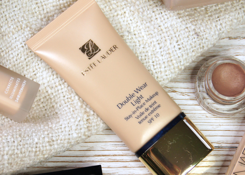 estee lauder double wear light foundation review swatch