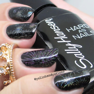 color club 2013 holo's over Sally Hansen Black Heart