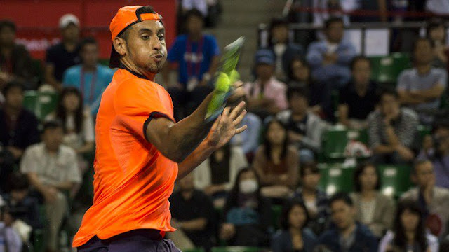 Nick Kyrgios banned for 'not trying' in Shanghai defeat