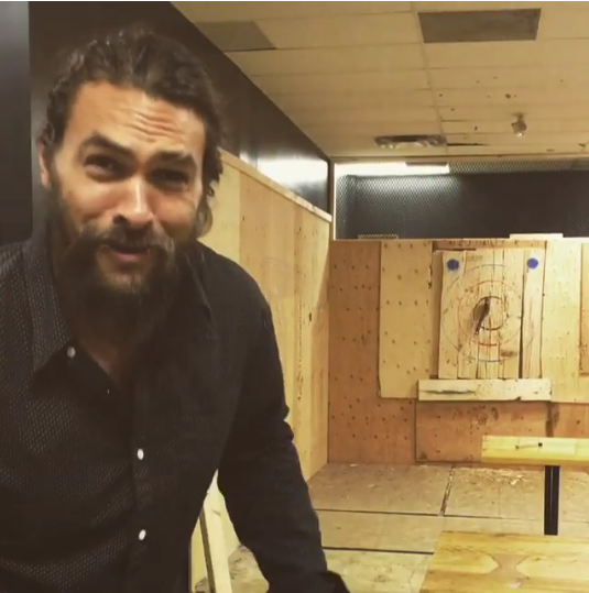 The business was inspired by an Instagram post of Hollywood beast Jason Momoa casually hurling an axe while sipping on a beer.