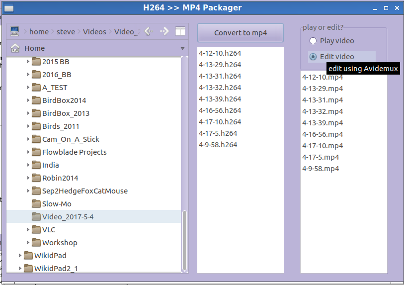 Captain Bodgit: Gambas MP4Box: a batch  h264 to  mp4 video packager