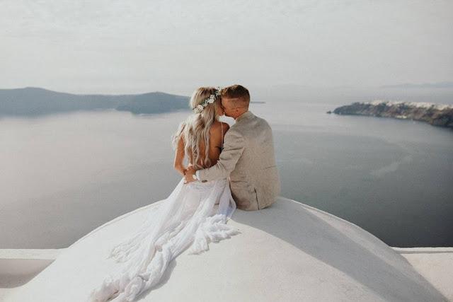 Santorini - sesja ślubna