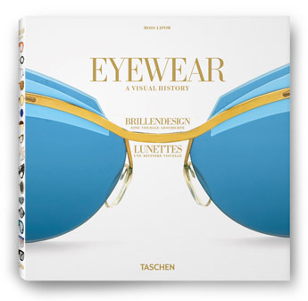 Eyewear - A Visual History - German, English and French edition. Copyright: TASCHEN. The sunglasses featured are Sunspec, Sol-Amor, France, late 1950s