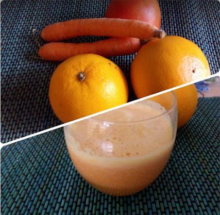 estratto di frutta e verdure per assumere vitamine