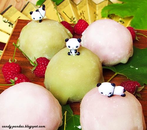 Ice cream mochi czyli kluseczki ryżowe nadziane ryżowymi lodami (bez glutenu, laktozy, cukru białego, wegańskie)