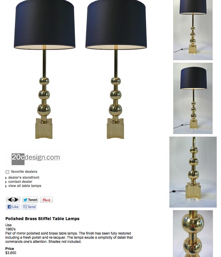 Identifying Quality Vintage Stiffel Lamps | Weisshouse
