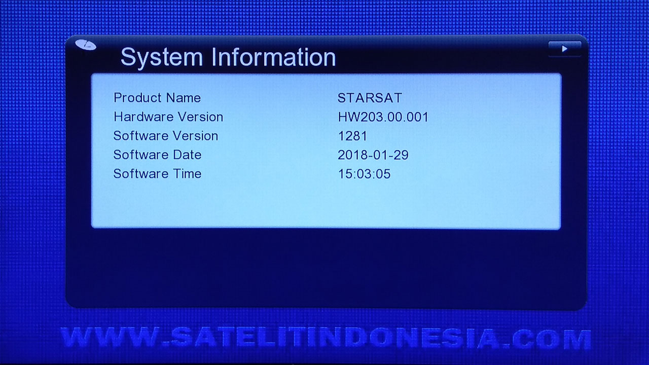 Software Starsat SR-2077 HD New Receiver Firmware Update
