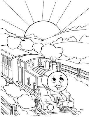 Gambar Mewarnai Thomas and Friends - 10