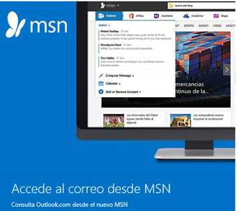 Iniciar sesion Outlook desde MSN