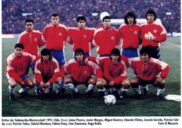 Formación de Chile ante Colombia, Copa América 1991, 17 de julio