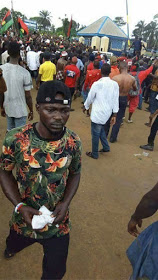 IPOB supporters storm Rivers police station, demand release of arrested members
