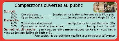 compétition ouvertes au public du salon maths et société