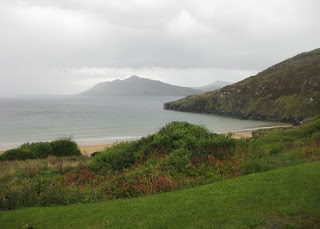View of Ballymastocker Bay from the road above, County Donegal, Ireland