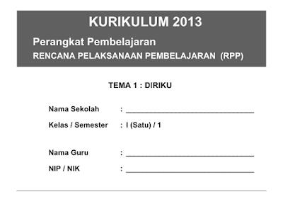 RPP Kurikulum 2013 Kelas 1,2,3,4,5,6 SD