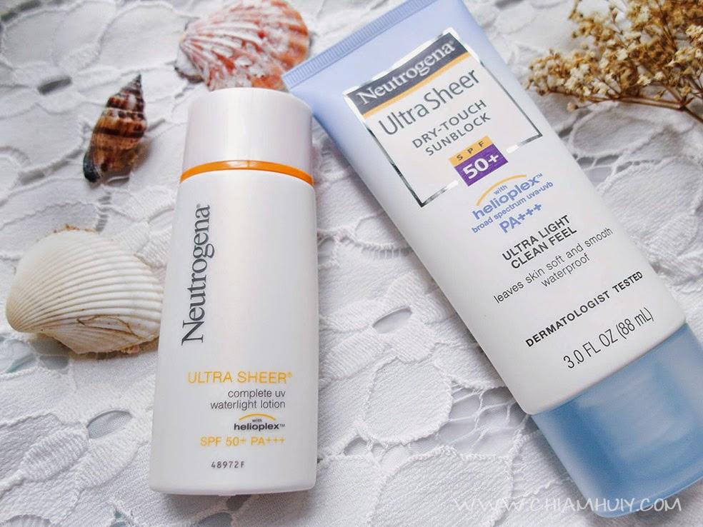 Neutrogena Best Sunscreen Lotions review - Celine Chiam | Singapore