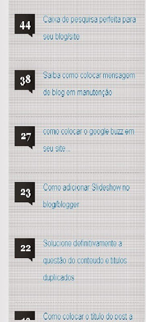 Widget mais comentados posts para blog