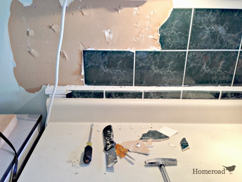 Tin Ceiling Backsplash