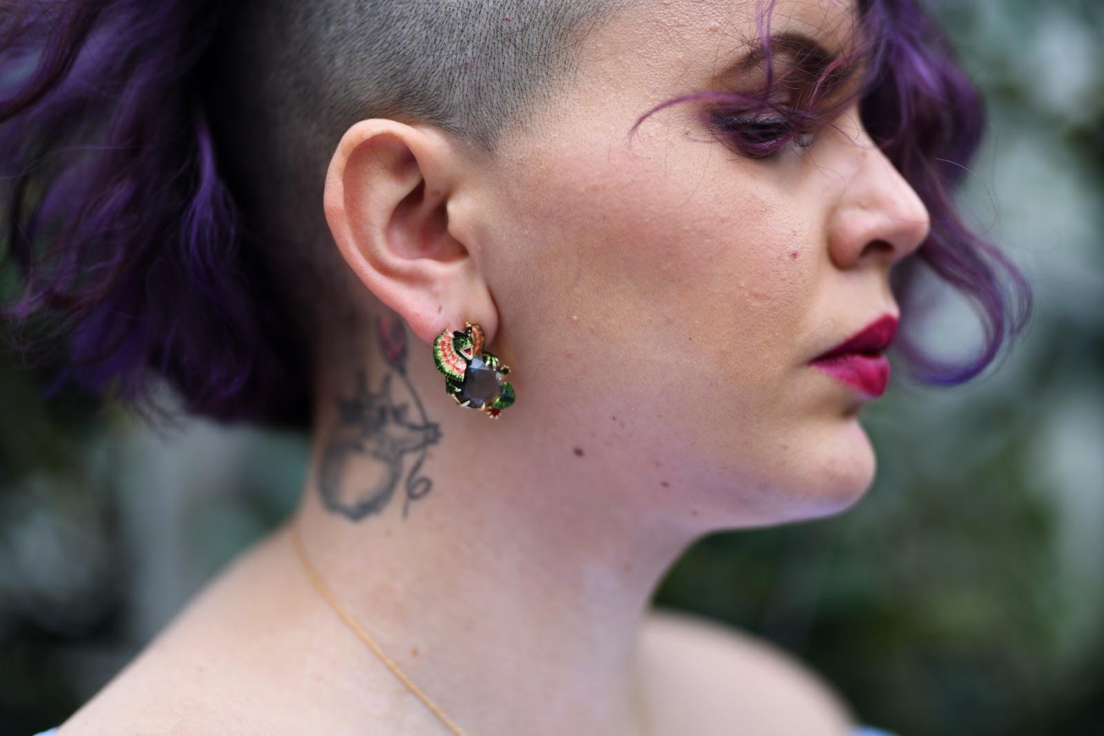 boucles d'oreille dinosaure les néréides
