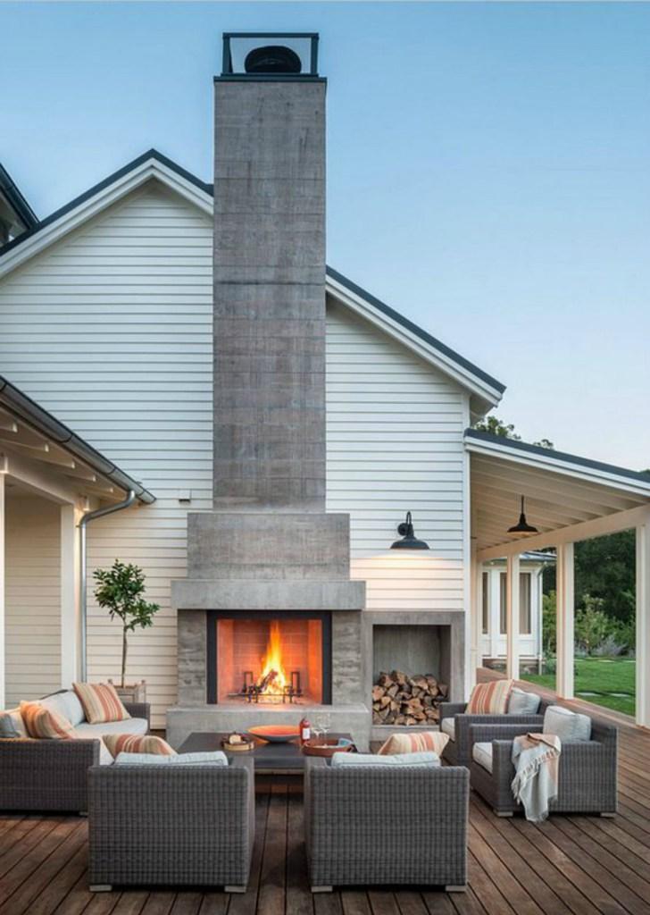 Designer's Corner: Indoor Outdoor Fireplace on Backyard Chimney Fireplace id=61155