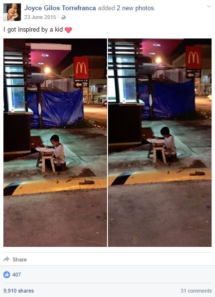 MUST WATCH: Viral Little Boy Who Loves To Study Under Mcdonald's Light Was Reunited With The Girl That Changed His Life