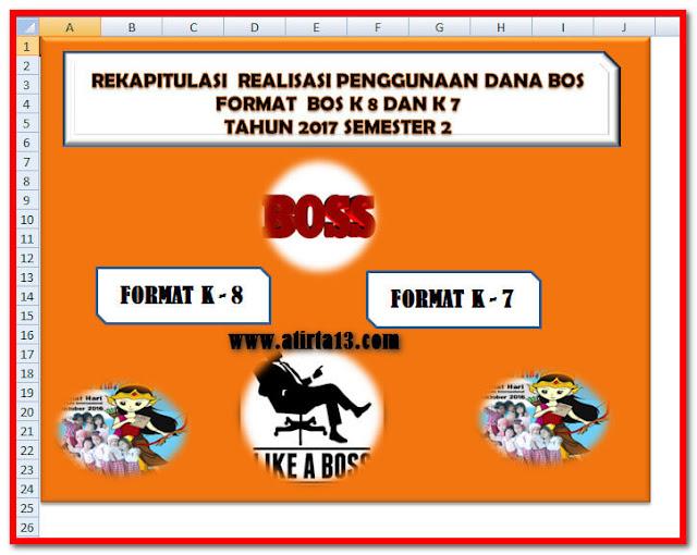 Contoh Rekapitulasi Realisasi BOS Format K-8 Dan K-7 Format Excel.Xlsx