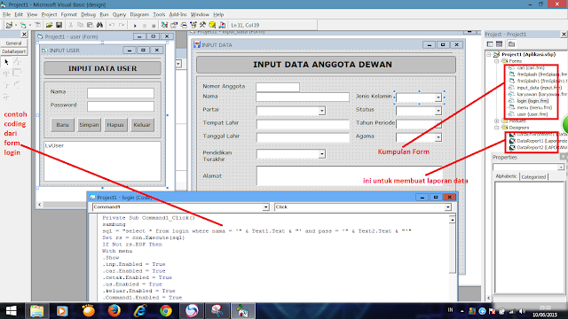 Cara Buat Program Database Anggota Dewan