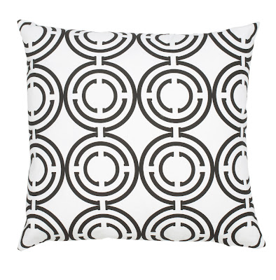 COCOCOZY Light black and white cotton pillow