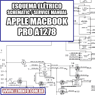 Esquema Elétrico Notebook Laptop Notebook Apple Macbook Pro A1278 Manual de Serviço  Service Manual schematic Diagram Notebook Laptop Apple Macbook Pro A1278    Esquematico Notebook Laptop Apple Macbook Pro A1278