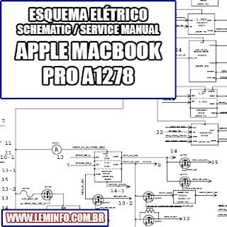 Esquema Elétrico Notebook Laptop Notebook Apple Macbook Pro A1278 Manual de Serviço  Service Manual schematic Diagram Notebook Laptop Apple Macbook Pro A1278    Esquematico Notebook Laptop Apple Macbook Pro A1278