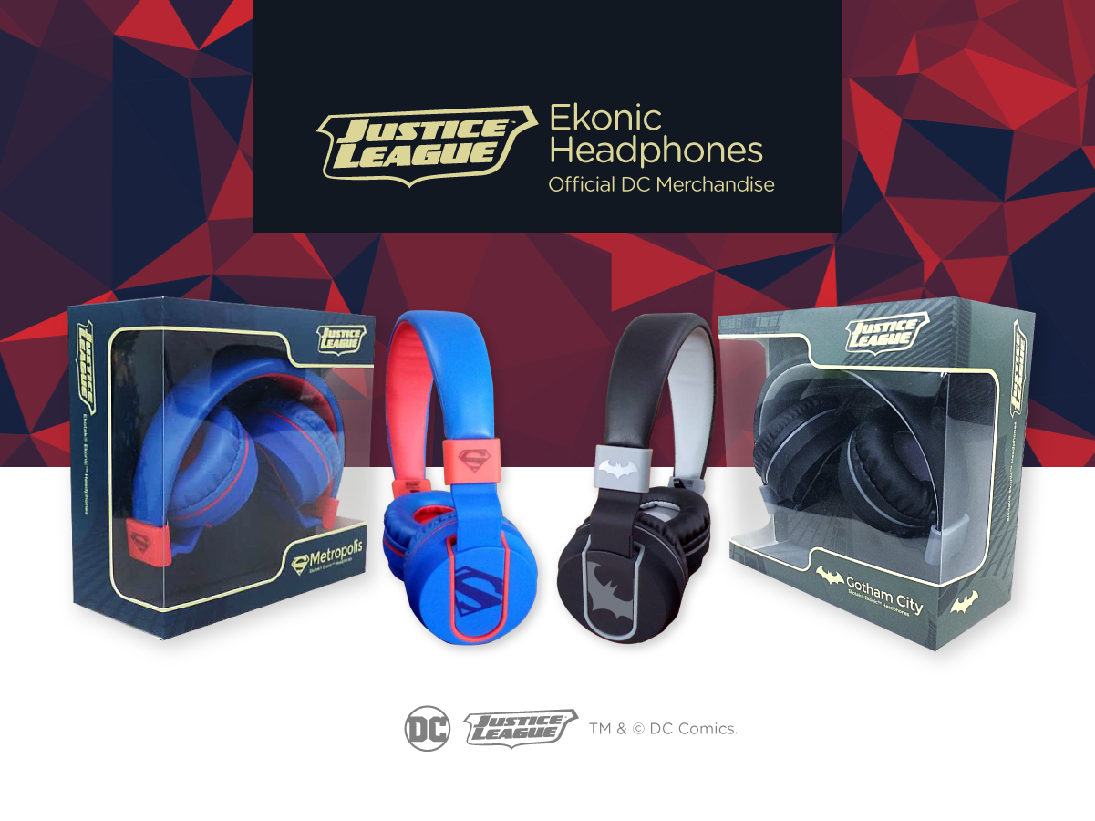 Ekonic Justice League Headphones