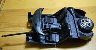 interior de la maqueta del coche