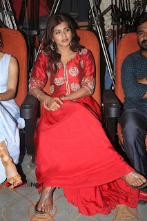 Actress Heba Patel Latest Stills in Red Dress at Mister Movie Trailer Launch Event  0034.jpg