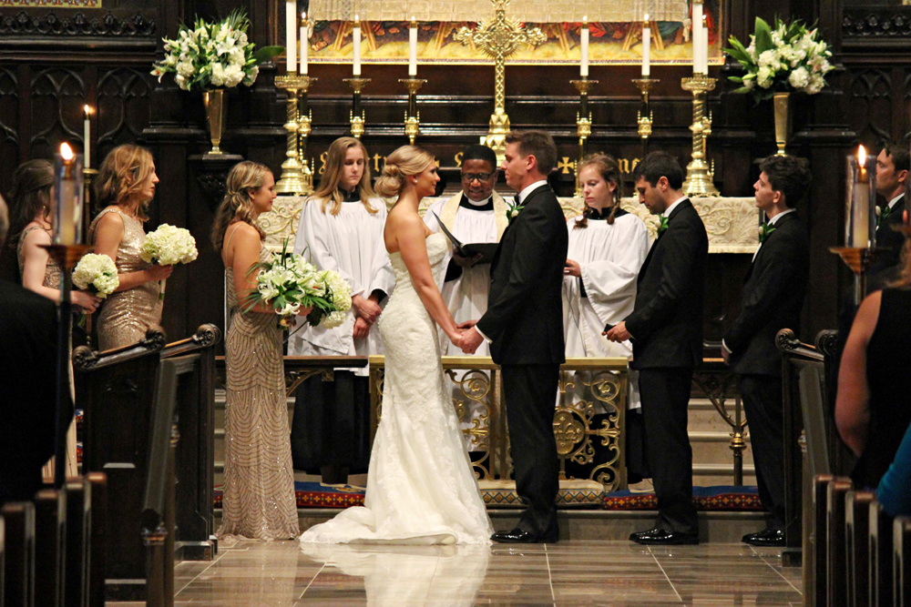 wedding vows at Grace St. Luke's