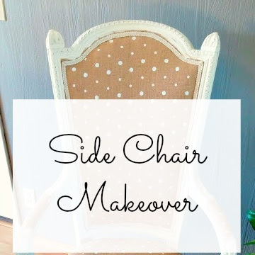 Before and After - Side Chair Makeover