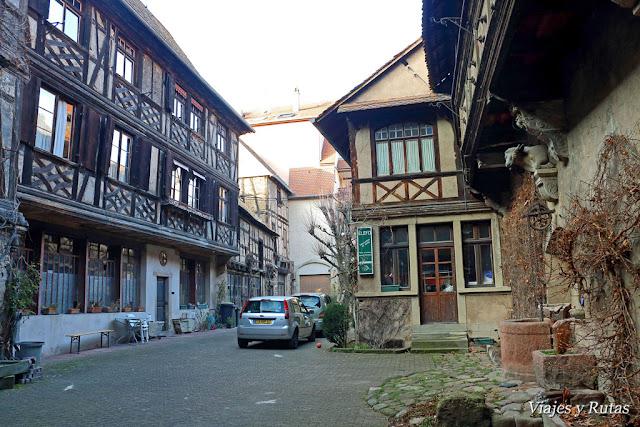 Patio Fastinguer de Obernai, Alsacia