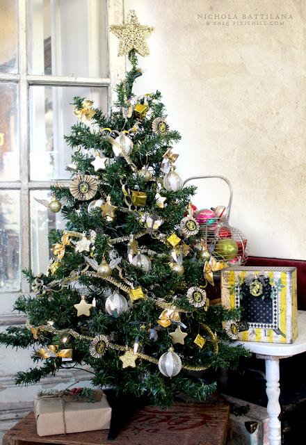 Hufflepuff Christmas Tree - Nichola Battilana