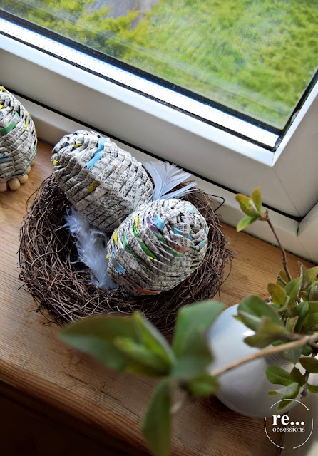 easter egg, easter decor, paper weaving, recycle, papierowa wiklina, wielkanoc, jakka wielkanocne