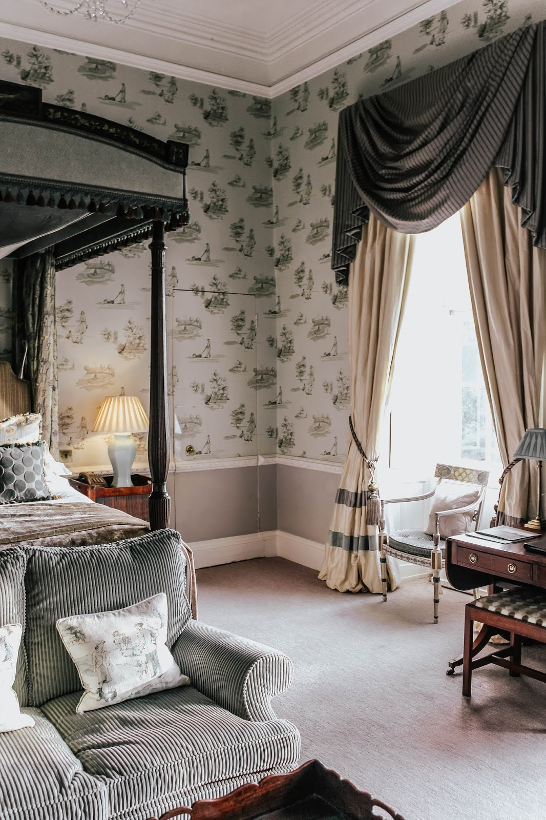 Ston Easton Park Hotel South East Four Poster Room