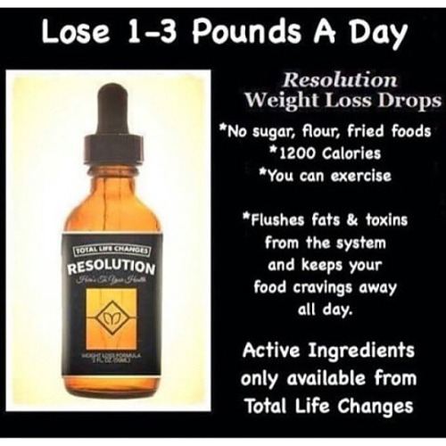 resolution drops    jump start your weight loss journey