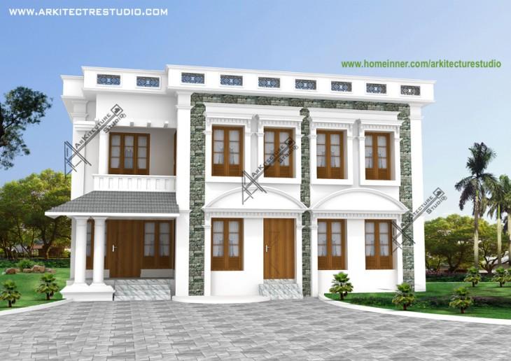 Two storey independent kerala house design - House naksha software ...