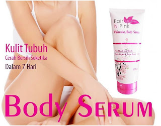 Fair n Pink Whitening Body Serum Original BPOM Asli