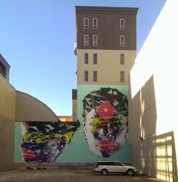 New Street Art Portraits by Australian Artist Askew in New Zealand For Rise Urban Art Festival. 4
