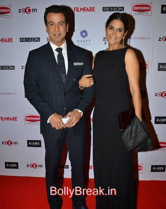 Ronit Roy, Neelam Singh, 60th Britannia Filmfare Awards pre-awards Party 2015 Red Carpet Pics