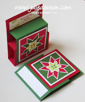 VIDEO: Stampin' Up! Christmas Quilt Step Panel Card Tutorial~ 2017 Holiday Catalog ~ www.juliedavison.com